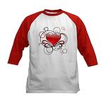 Love Swirls Kids Baseball Jersey