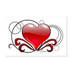 Love Swirls Mini Poster Print