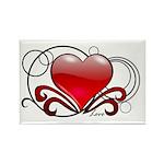 Love Swirls Rectangle Magnet