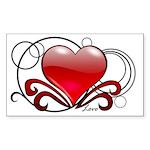 Love Swirls Rectangle Sticker