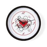 Love Swirls Wall Clock