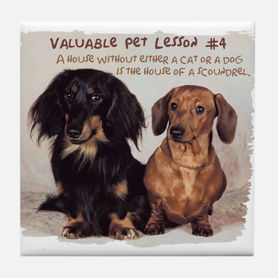 Valuable Pet Lesson #4 Tile Coaster