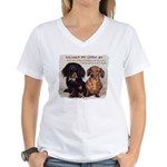 Valuable Pet Lesson #4 Women's V-Neck T-Shirt