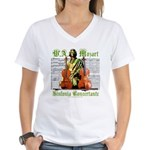 Mozart Sinfonia Concertante Women's V-Neck Tee