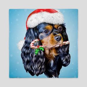Pillow King Charles Spaniel Santa Queen Duvet