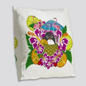 Cocktailguin Burlap Throw Pillow