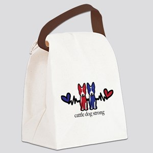 cattle dog strong Canvas Lunch Bag