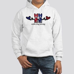 Cattle Dog Strong Hooded Sweatshirt