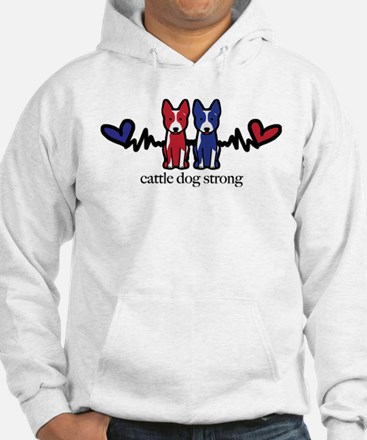 Cattle Dog Strong Hoodie