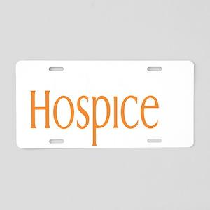 burke hospice logo for dark Aluminum License Plate
