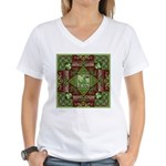 Celtic Dragon Labyrinth Women's V-Neck T-Shirt