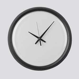 This Girl Loves Her Basset Hound Large Wall Clock