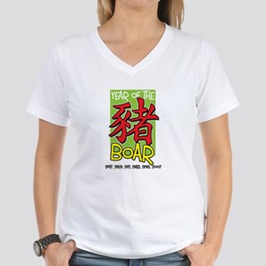 Year of the Boar Women's V-Neck T-Shirt