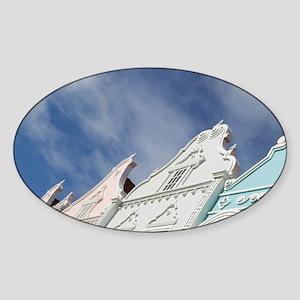 Oranjestad: Downtown Dutch Architec Sticker (Oval)