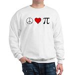 Peace, Love, and Pi Sweatshirt