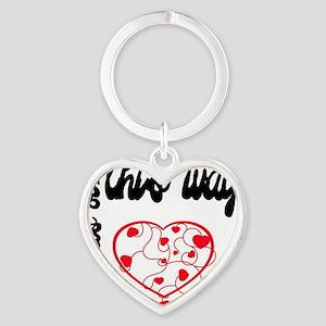 BornThisWay Heart Keychain
