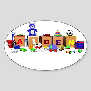 Aiden_Banner Sticker (Oval)