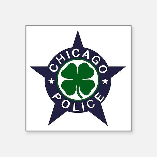 "Chicago Police Irish Square Sticker 3"" x 3"""