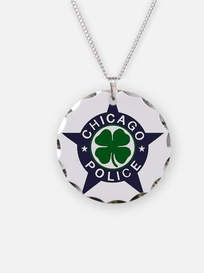 Chicago Police Irish Necklace Circle Charm