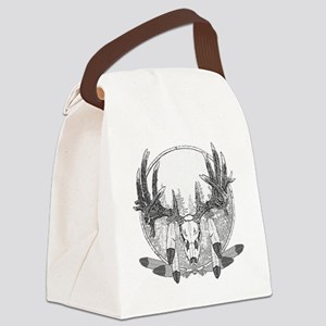 Whitetail and feathers Canvas Lunch Bag