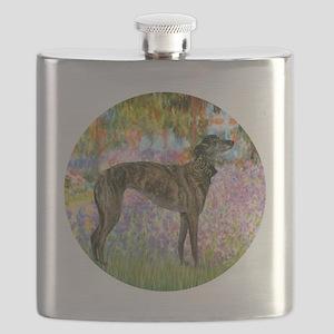 R-Garden-Greyhound-brindle Flask