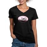 rockgrrl Women's V-Neck Dark T-Shirt