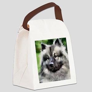 keeshond calendar Canvas Lunch Bag