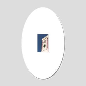 George's, St. George's Angli 20x12 Oval Wall Decal