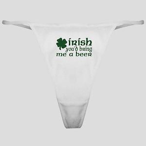 Irish Bring Me a Beer Classic Thong