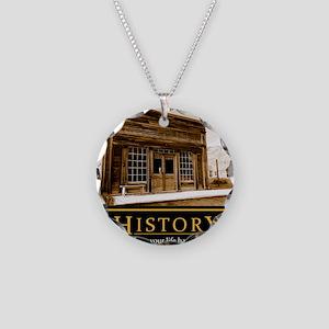 History demotivational poste Necklace Circle Charm