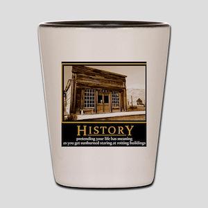 History demotivational poster Shot Glass