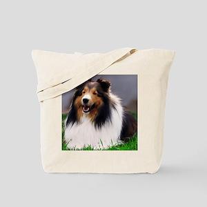 sheltie art canvas Tote Bag