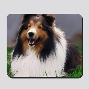 sheltie art canvas Mousepad