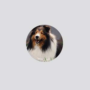 sheltie art canvas Mini Button