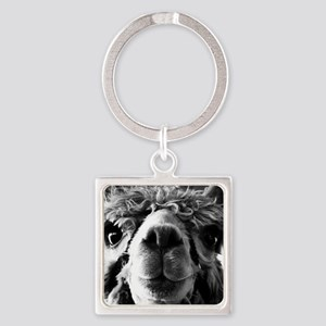 11x11 say cheese Square Keychain