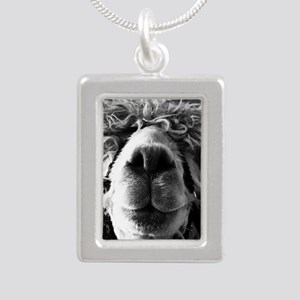 11x11 say cheese Silver Portrait Necklace