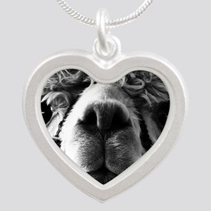 11x11 say cheese Silver Heart Necklace