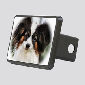 papillon watercolor round Rectangular Hitch Cover
