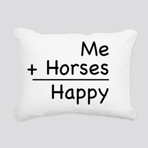 Happy Horses shirt Rectangular Canvas Pillow