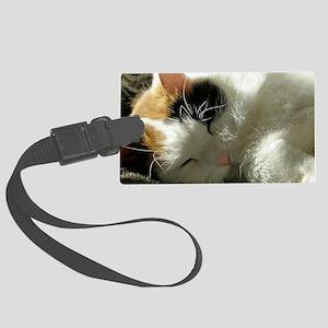 Sleeping Kitty Large Luggage Tag
