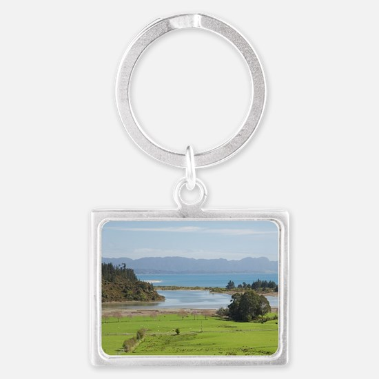 View over Farmland from The Gro Landscape Keychain
