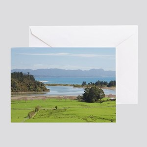 View over Farmland from The Grove Sc Greeting Card