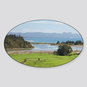 View over Farmland from The Grove S Sticker (Oval)