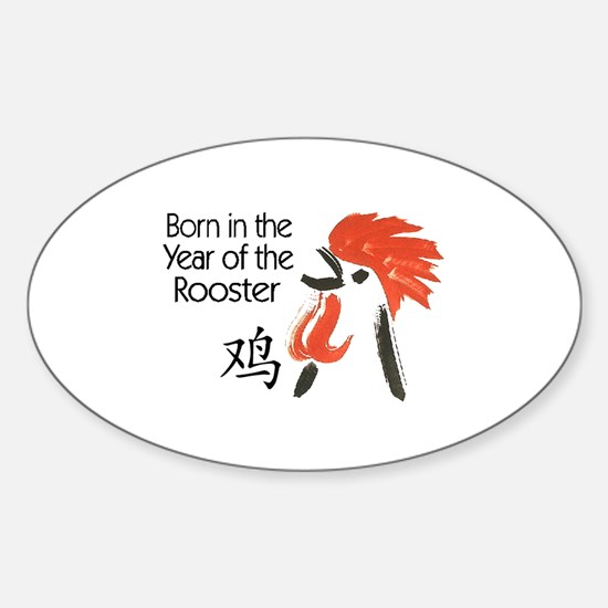 Year of the Rooster Oval Bumper Stickers
