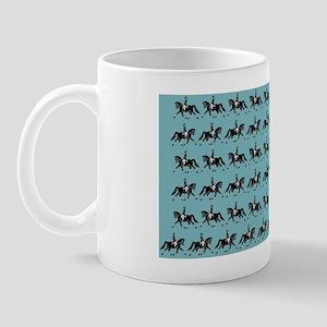 Dressage Horse turquoise Mug