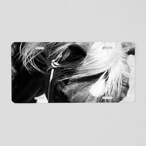Horses Face Aluminum License Plate