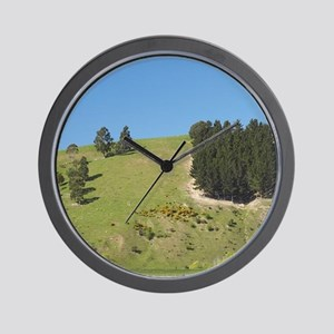 Cows reflected in canal, Henley, Taieri Wall Clock