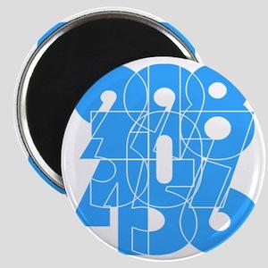 sky-bluelbl-wt Magnet