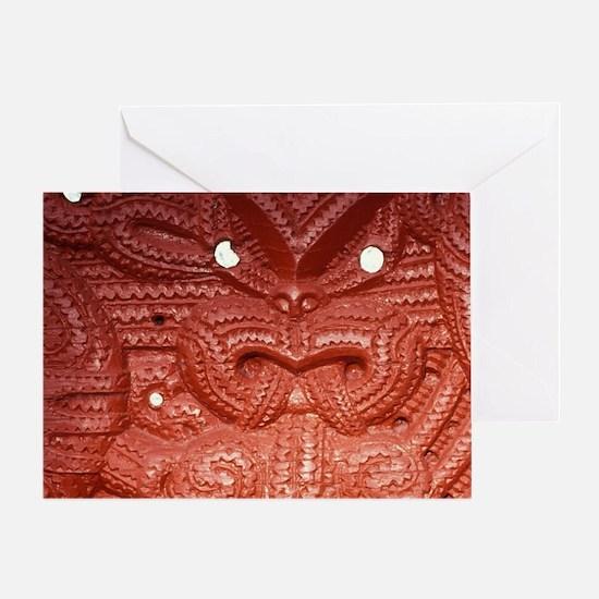 Whakarewarewa Thermal Reserve. Maori Greeting Card