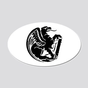 Gryphon 20x12 Oval Wall Decal